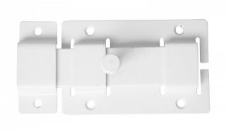 Задвижка СЕКРЕТ-КИРОВ ЗД 02  белая прямоугольный ригель (скин-упак.)