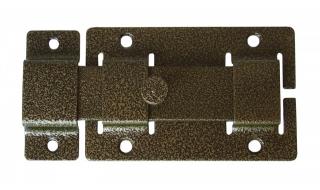 Задвижка СЕКРЕТ-КИРОВ ЗД 02  бронза прямоугольный ригель (скин-упак.)