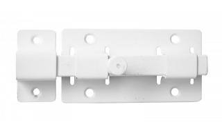 Задвижка СЕКРЕТ-КИРОВ ЗД 06  белая квадратный ригель (скин-упак.)
