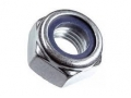 Гайка со стопорным кольцом DIN985 цинк